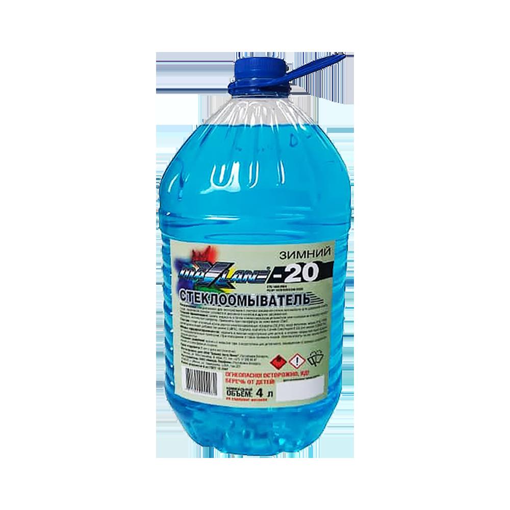 Жидкость стеклоомывающая зимняя MaxLane -20 4 л